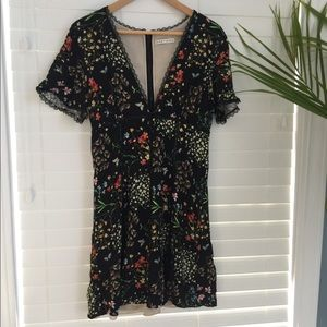 Alice + Olivia floral boho mini dress